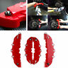 Deco 3D Universal Red 4PCS Style Car Disc Brake Caliper Covers Front & Rear
