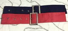 Kids Belts Accessories Girls Waist Belt Stretch BUCKLE  RED+NAVY 2x Pack