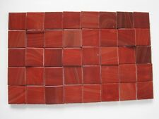 """Loose 3/4"""" (2 cms) square Glass Mosaic Tiles - 40 pieces - """"Burgundy Red"""""""