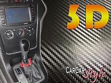 3d Aire Negro Libre De Fibra De Carbono Vinilo 1.52 m (59,8 En) X 0.8 m (31,5 En) Abrigo coche decal