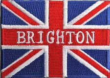 Brighton East Sussex Union Jack Flag Embroidered Patch Badge