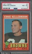 1971 Topps Football #7 Ernie Kellerman Browns PSA 8 NM-MT