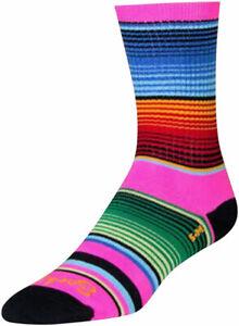 SockGuy Siesta Crew Socks | 6 inch | Pink/Multicolor | S/M