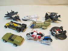 8 Vintage 1980's GoBots - transformer-like vehicles-very good condition