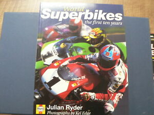 WORLD SUPERBIKES THE FIRST 10 YEARS BOOK HAYNES,RYDER,EDGE,1997