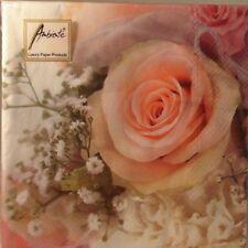 TOVAGLIOLI O TOVAGLIOLI 3 VELI CARTA , rosa romance Design (20) 15.2cmx15.2cm
