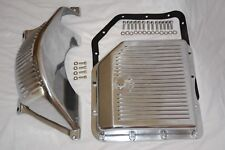 GM Turbo 350 TH-350 Polished Aluminum Flywheel Dust Cover & Transmission Pan