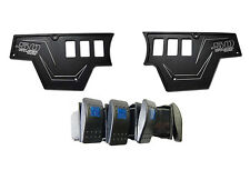 Black Aluminum Dash Plates with Waterproof Light Rocker Switches RZR XP1000