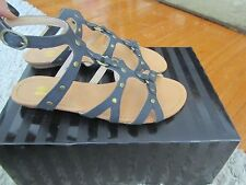 NEW NIB VICTORIA'S SECRET O RING STUDDED STRAPPY GLADIATOR SANDALS SHOES FLATS 5