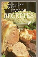 C'est surtout à cause des viandes Livre de cuisine Dominion Stores recipes 1976