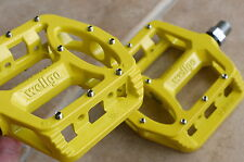 WELLGO MG1 MG-1 MAGNESIUM PEDALS 378g MTB BMX DH NEW IN RETAIL BOX YELLOW