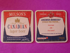 Beer Coaster  ~ 2009 MOLSON Canadian Lager ~ Would You Prefer Free Love or Beer