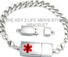 Stainless USB Bracelet EMR PHR Medical Alert ID-NIB (Electronic Health Records)