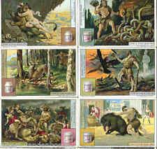 Hercules Greek God Myth - Set of 12 NICE c1928 Cards - Greece litho chromos