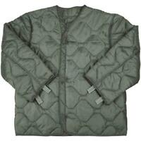 New U.S. MILITARY M65 FIELD JACKET COAT LINER New M-65 quilted OD,Size X-Small-R