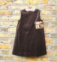 Fendi Girl's Sleeveless Brown Velvet Shift Dress Size 6 Years Old NEW