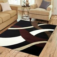 Sequenced Neutral Black/Beige Area Rug
