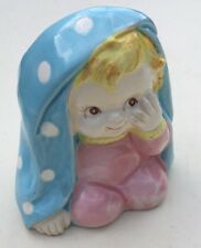 INARCO Japan Ceramic Vase/Small Planter Baby With Blanket #CB-2040