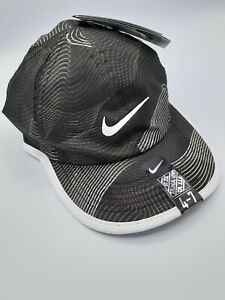 NIKE DRI-FIT FEATHERLIGHT UNISEX BLACK WHITE ADJUSTABLE HAT CAP SIZE 4-7 NWT