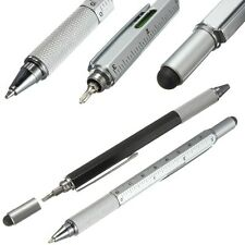Pen Ballpoint Multi Function Tool Color Ruler Screwdriver Touch Screen Uni 7in1