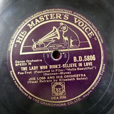 78 rpm JOE LOSS the lady who didn`t believe in love / out of this world