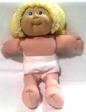 "Vinatage Cabbage Patch Kids 16"" Doll 1982 Blonde Hair Blue Eyes Diaper"