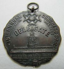 Antique 1905 SAR Sons of the American Revolution Delegate Medallion Medal Phila
