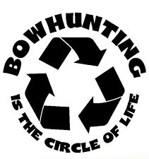 Bow Hunting Circle - Window sticker Car RV ATV Bow Hunting Outdoor Vinyl Decal