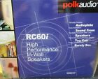"""Polk Audio RC60i White Round 6.5"""" two-way in-wall/ceiling speaker (Pair) ✔NEW✔"""