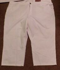 Coldwater Creek-Women's white capris-denim style-Size 24W-New with tags