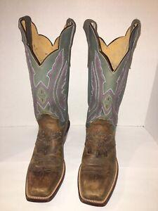 Justin Cowboy Boots Women Size 7.5B