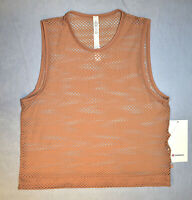 B0 NWT LULULEMON Antique Mesh Sweat your Heart Out Tank Top Size 6