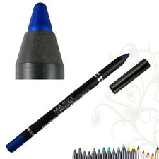 Crayon Eyeliner Bleu Paillette Waterproof Gras Longue Tenue
