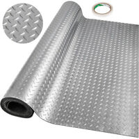 Garage Flooring Mats Roll PVC Flooring Raised Mat Trailer Floor Covering Diamond
