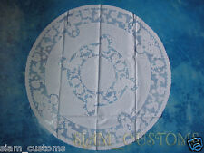 "35"" INCHES VINTAGE MID CENTURY PLASTIC WHITE LACE PLACEMAT TABLECLOTHS DOILIES"