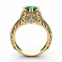 Plated 14k Gold Rings Jewelry Micro-inlaid Simulation Diamond Rings Decorative