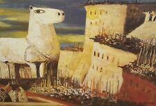 Salvatore Fiume,Cavallo di Troia, litografia 60x80cm, firmata