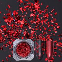 Nail Sequins Glitter Paillette Powder Dust Born Pretty Flakes Red Irregular Tips