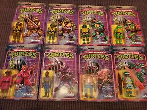 TMNT ReAction Super7 Figure Lot of 8 Krang Splinter Teenage Mutant Ninja Turtles