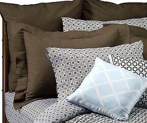 Jonathan Adler Kensington Toss Decor Square light Blue White Diamonds Pillow new