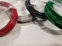 100 FT 14 AWG BLACK WHITE GREEN & RED THHN STRANDED COPPER WIRE 25 FT EA