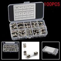 100pcs Quick Blow Glass Tube Fuse Assorted Kit Glass Fuses Car Auto Set 5x20mm