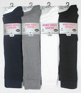 1-12 Pairs Ladies Womens Girls Knee High Socks Lot Work Uniform School Size 4-6