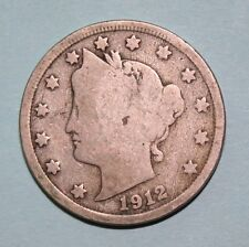 1912  US  Liberty Head ( V ) nickel in  circulated  condition    Free Shipping