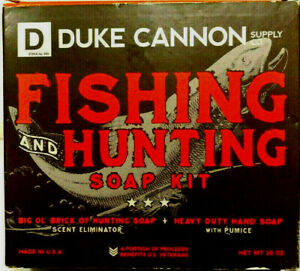 Duke Cannon Fishing and Hunting Scent Eliminator Soap Kit/ - Pumice Soap