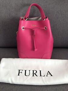 Furla Stacy pink bucket bag RRP $549