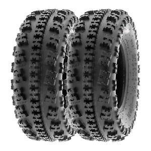 SunF 22x7-10 ATV Tires 22x7x10 AT Race Tubeless 6 PR A027  [Set of 2]