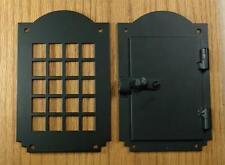 Hinged Door Viewer, Peephole Viewer, Arched Top, 2 pc. Speakeasy Door Viewer Kit