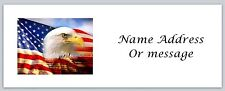 Personalized Return Address Labels US Flag Buy 3 get 1 free (a 4)