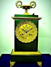 PENDULE borne EN BRONZE a fil uhr clock часы klok antique uhren Kaminuhr